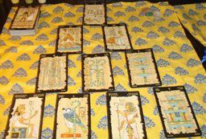 tiro delle carte egiziane